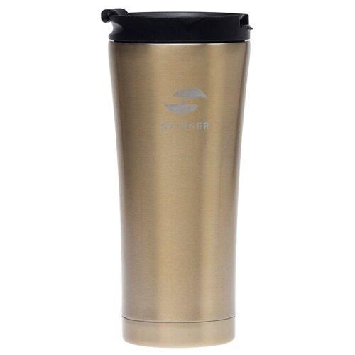 Термокружка STINGER HY-VF143, 0.45 л коричневый глянцевый