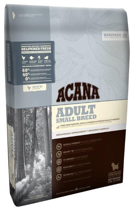 Сухой корм Acana Корм Adult Small Breed, для взрослых собак мелких пород, 6кг, 6 кг