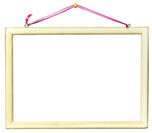 Доска для рисования детская АНДАНТЕ двусторонняя с маркером и магнитами (Д141)