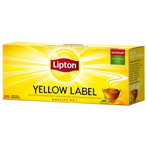 Чай черный Lipton Yellow label в пакетиках, 25 шт.Чай<br>