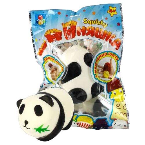 Купить Игрушка-мялка 1 TOY Панда Т12315 черно-белый, Игрушки-антистресс