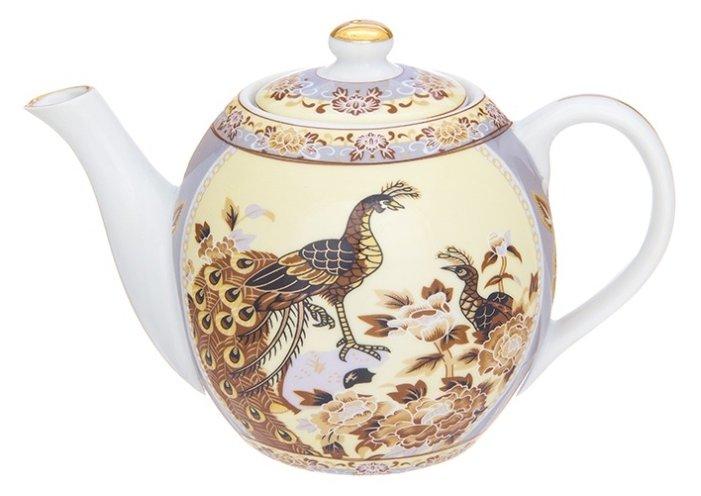 Купить Elan gallery Заварочный чайник 500 мл, Павлин на бежевом по низкой цене с доставкой из Яндекс.Маркета