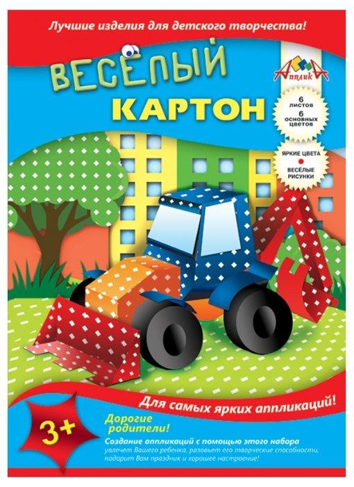 Цветной картон Ромбики Апплика, A4, 6 л., 6 цв.