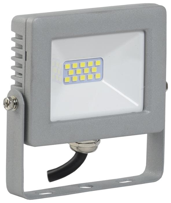 Светодиодный LED прожектор IEK СДО 07-10 10W(800lm) SMD 6500K 6K 70x90x25 серый IP65 LPDO701-10-K03