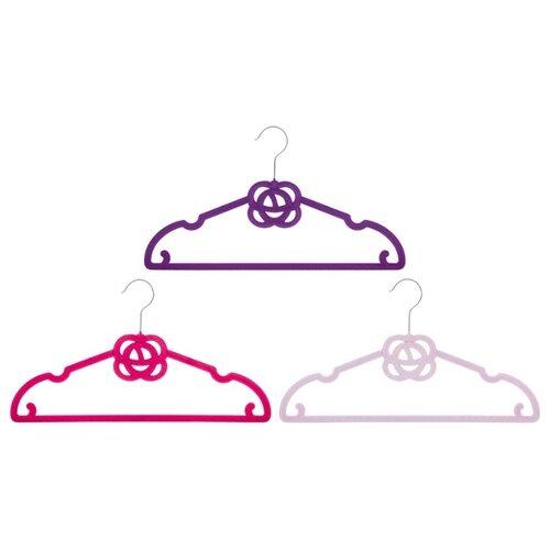 цена на Вешалка EL CASA Набор Роза 3шт фиолетовый/бордовый/сиреневый
