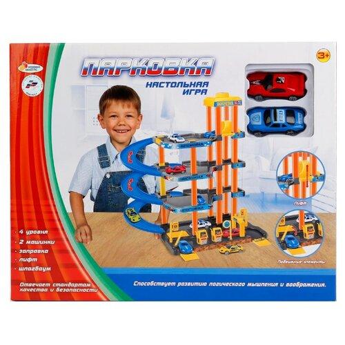 Купить Играем вместе Парковка B1349248-R желтый/оранжевый/голубой/серый, Детские парковки и гаражи