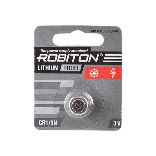 Фото - Батарейка ROBITON Lithium Profi CR1/3N 1 шт блистер элемент питания robiton profi 2cr5 блистер 1шт