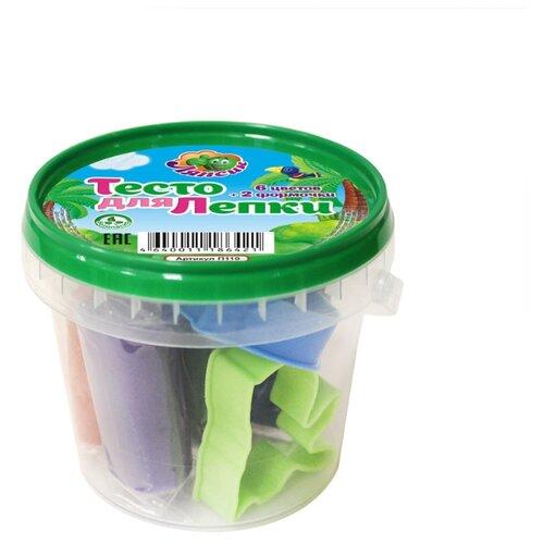 Масса для лепки Ляпсик 6 цветов по 25 г + 2 формочки (П110)Пластилин и масса для лепки<br>