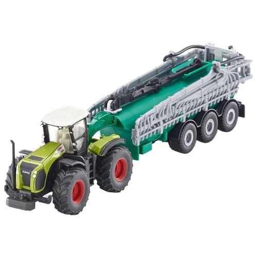 Купить Набор техники Siku Трактор Claas Xerion с цистерной Samson SG (1827) 1:87 20 см зеленый, Машинки и техника