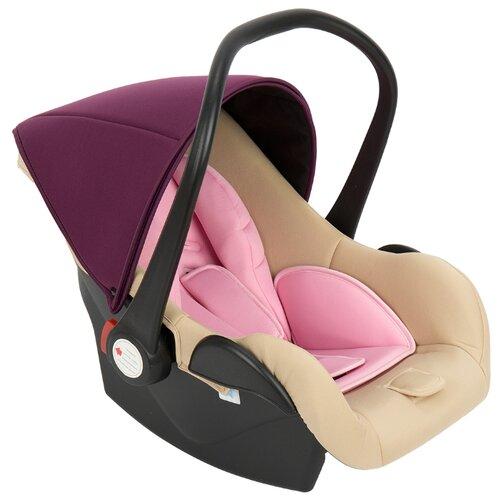Купить Автокресло-переноска группа 0+ (до 13 кг) Lider Kids Baby Leader Comfort II, бежевый/розовый, Автокресла
