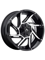 Диск автомобильный BUFFALO BW-422 9X20/5X150 ET35 D110.1 GLOSS-BLACK-MACHINED-FACE - фото 1