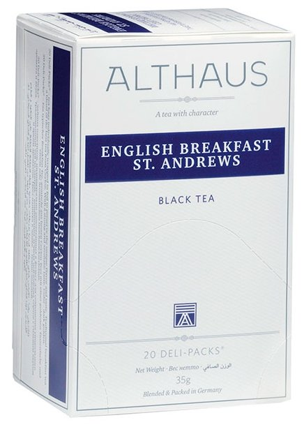 Чай черный Althaus English Breakfast St. Andrews в пакетиках
