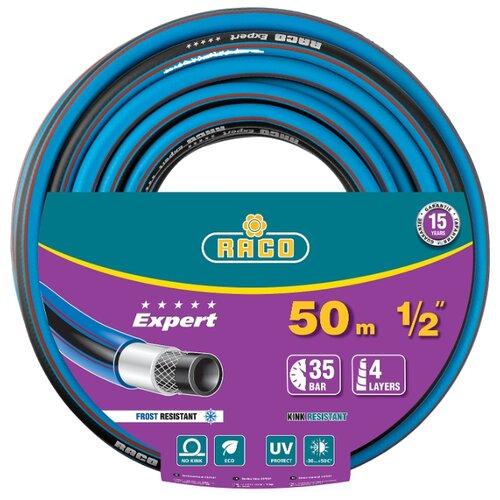 Фото - Шланг RACO Expert 1/2 50 метров 4-х слойный голубой/черный шланг raco expert 1 2x50m 40302 1 2 50