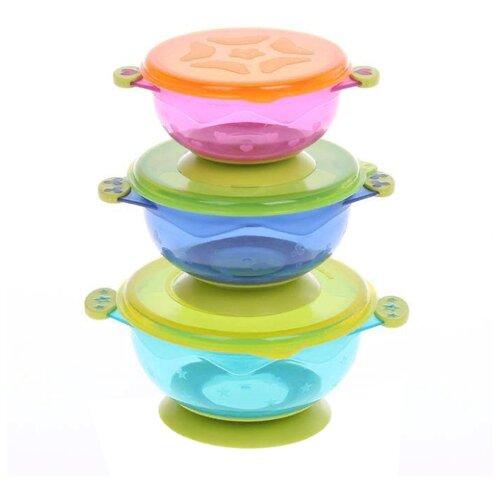 Комплект посуды Mum&Baby с крышкой 3 шт.