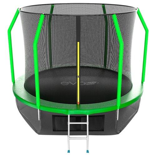 Каркасный батут EVO Jump 10FT Cosmo с нижней сетью 305х305х254 см зеленый каркасный батут evo jump 6ft cosmo с нижней сетью 183х183х210 см green