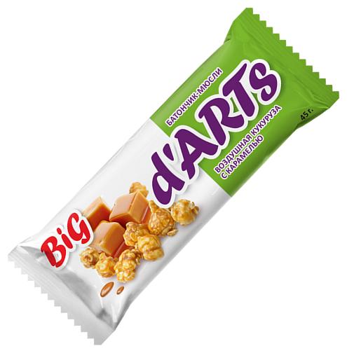 Злаковый батончик d`ARTs Воздушная кукуруза с карамелью, 45 г