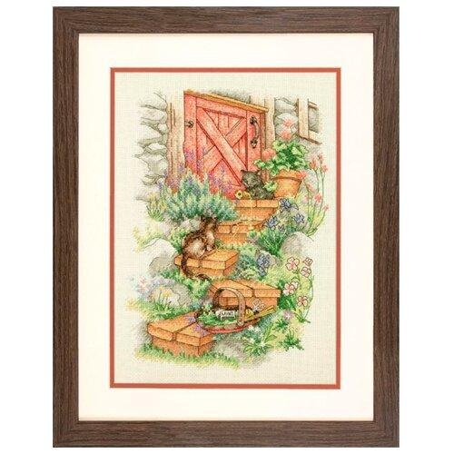 Купить Dimensions Набор для вышивания крестиком Садовые ступеньки 25 х 35 см (70-35362), Наборы для вышивания