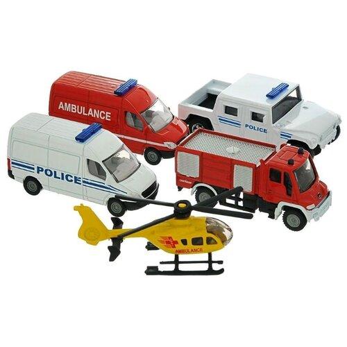 Фото - Набор машин Siku Спасательная техника (6289) 1:87 белый/красный/желтый набор машин siku паром для