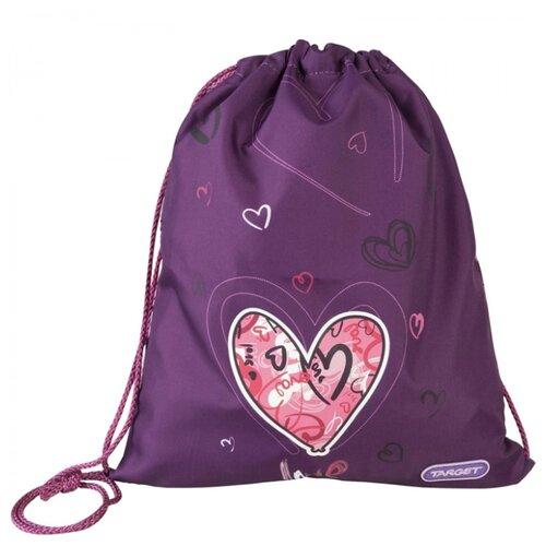 Target Сумка для детской сменной обуви Сердце (17961) фиолетовый/розовыйМешки для обуви и формы<br>