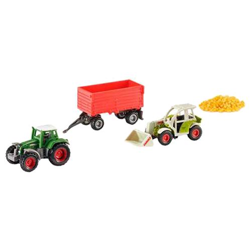 Купить Набор техники Siku с прицепом и зерном (6304) 1:55 зеленый/красный, Машинки и техника