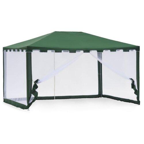 Фото - Шатер Green Glade 1044, со стенками и москитной сеткой, 3 х 4 х 2.5 м зеленый / белый шатер green glade 1003 со стенками и москитной сеткой белый зеленый
