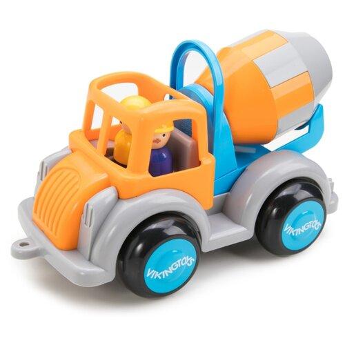 Купить Бетономешалка Viking Toys Jumbo (1253/701253) 25 см оранжевый/голубой/серый, Машинки и техника