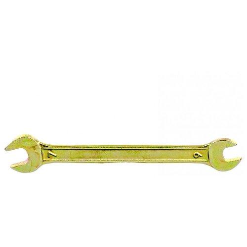 Сибртех Ключ рожковый 6х7 мм 14301 ключ рожковый 13 х 17 мм желтый цинк сибртех