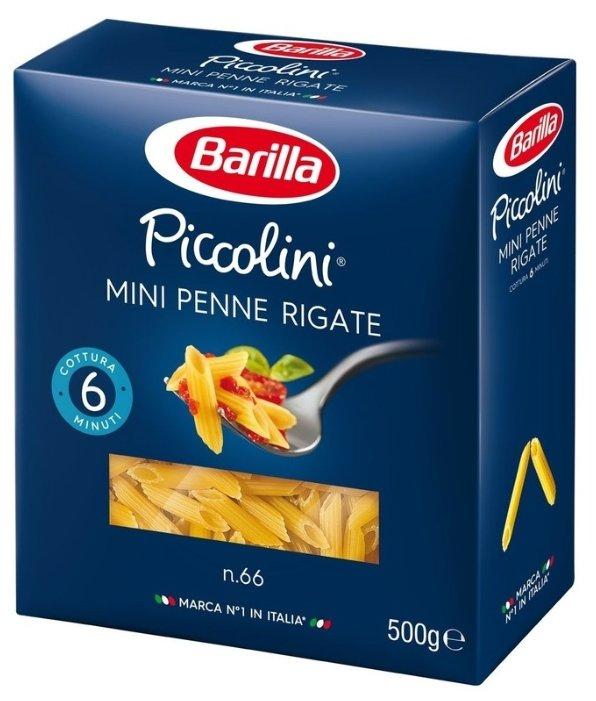 Barilla Макароны Piccolini Mini Penne Rigate n.66, 500 г
