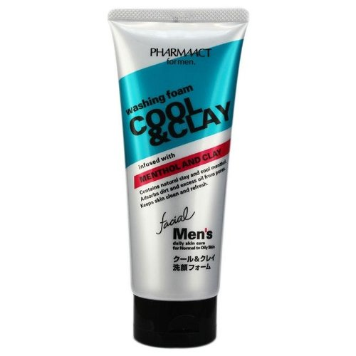 Pharmaact Пенка для умывания с глиной For Men Cool & Clay Washing Foam 130 г a pieu маска пенка глиняная phytoncide clay pack to foam 100 г