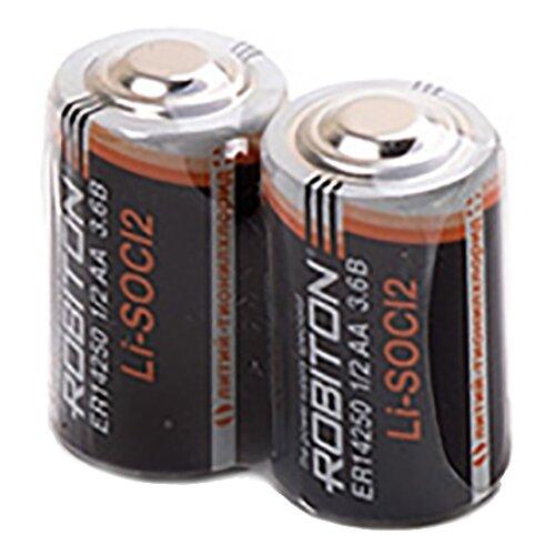 Фото - Батарейка ROBITON ER14250 1/2АА, 2 шт. батарейка robiton er26500 dp с коннектором ph1 1 шт
