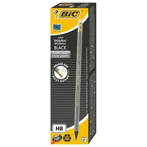 Купить BIC Набор чернографитных карандашей Evolution Black 12 шт (918484), Карандаши