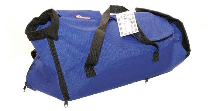 Переноска-сумка-фиксатор для кошек OSSO Fashion XL С-1014 44х20х18 см синий