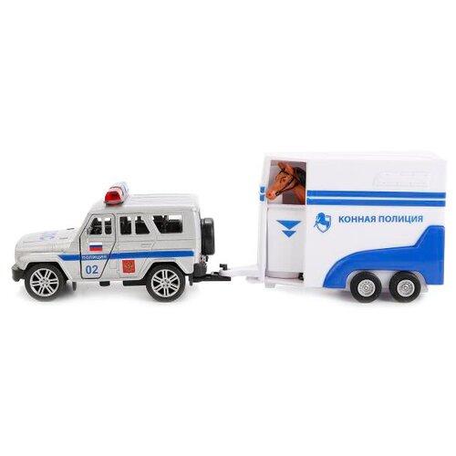 цена на Внедорожник ТЕХНОПАРК УАЗ Hunter Полиция с фургоном (SB-16-68+HT-WB) белый/серый