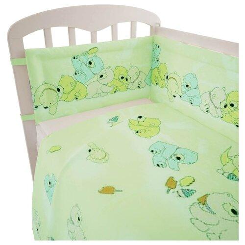 Купить Фея комплект Мишки (3 предмета) зеленый, Постельное белье и комплекты