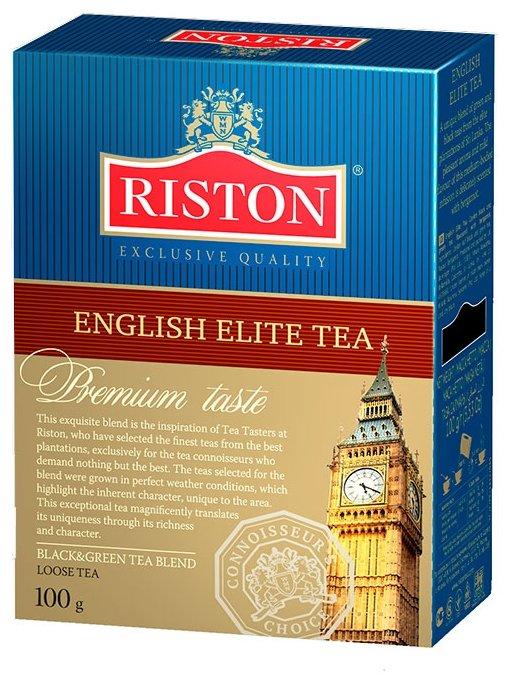Чай Riston English elite tea, смесь зеленого и черного чая