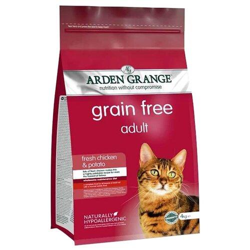 Корм для кошек Arden Grange Adult Cat курица и картофель сухой корм беззерновой, для взрослых кошек 4 кг arden grange arden grange adult pork