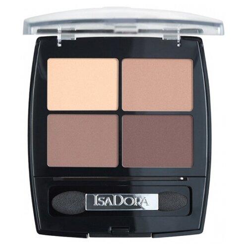 IsaDora Тени для век Eye shadow quartet 44 muddy nudes недорого