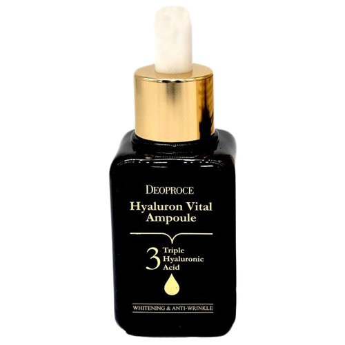 Deoproce Hyaluron Vital Ampoule Сыворотка для лица гиалуроновая ампульная 50 млУвлажнение и питание<br>