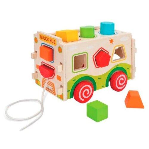 Каталка-игрушка Mapacha Машинка (76655) дерево/зеленый/красный каталка chilok bo машинка бентли красный 326