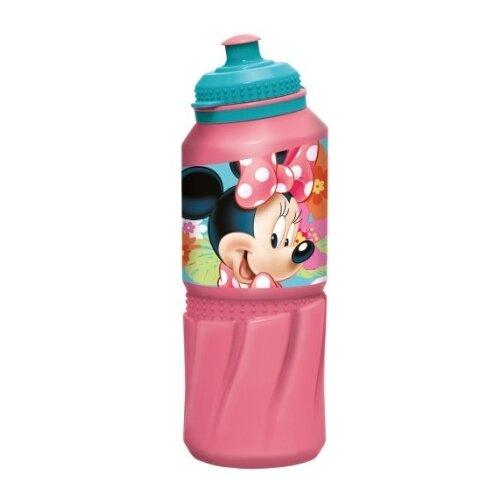 Бутылка для воды, для безалкогольных напитков Stor спортивная 0.53 пластик Минни Маус Цветы