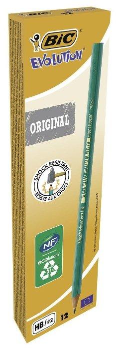 BIC Набор чернографитных карандашей Evolution Original 12 шт (880311)