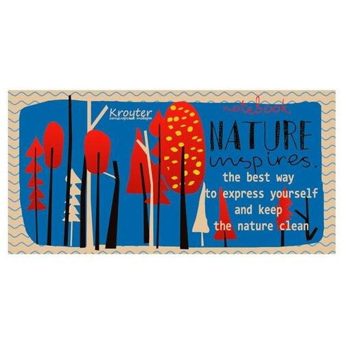 Купить Блокнот для эскизов Кройтер Nature 20 х 10 см, 80 г/м², 80 л., Альбомы для рисования