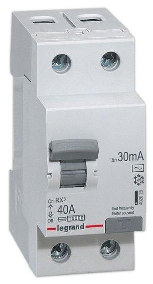 УЗО Legrand 30мА тип AC RX3 402025 2 полюса
