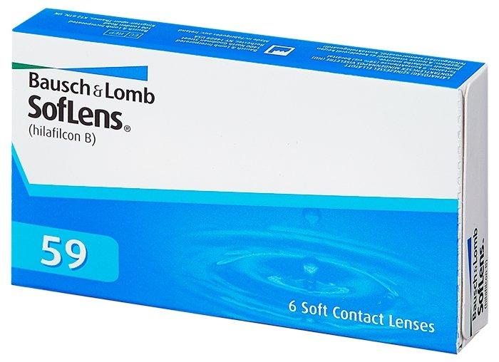 Контактные линзы Bausch+Lomb SofLens 59, 6 шт, R: 8.6, D: -3,0