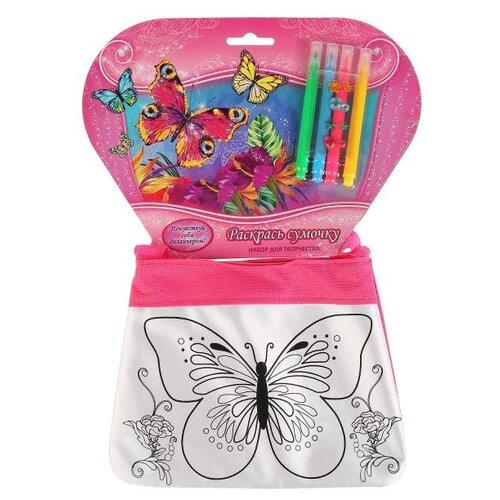 Купить Multiart Набор для росписи сумки Цветы и Бабочки (ST-1506-BTF), Роспись предметов