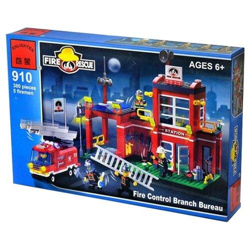 Купить Конструктор Qman Fire Rescue 910 Пожарная часть, Конструкторы