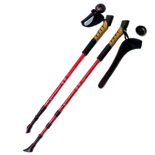 Палки для скандинавской ходьбы 2 шт. Hawk Телескопические F18440 красный