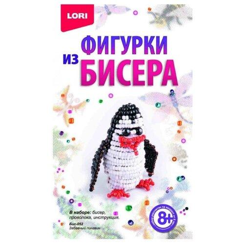 LORI Набор для бисероплетения Забавный пингвин белый/черный lori набор для бисероплетения сакура розовый