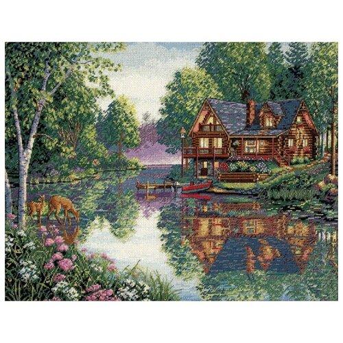 Купить Dimensions Набор для вышивания крестиком Уютный коттедж 41 x 30 см (35183), Наборы для вышивания