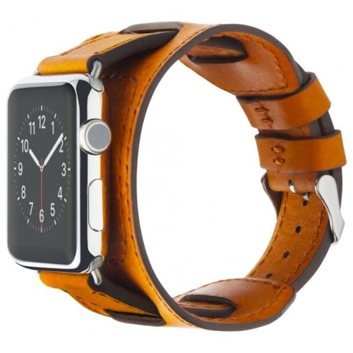 Cozistyle Wide Leather Band for Apple Watch 42/44mm светло-коричневый ремешок cozistyle double tour leather watch band cdlb010 black